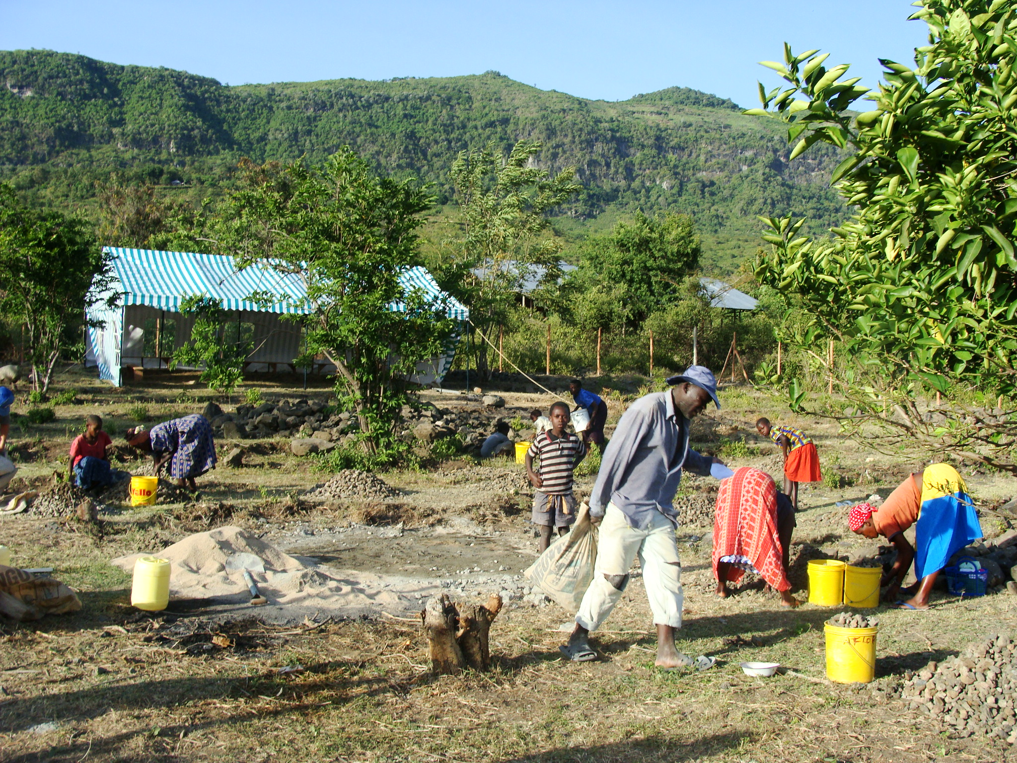 Clearing the site, January 2008.