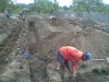 Digging the foundation trenches, March 2009.