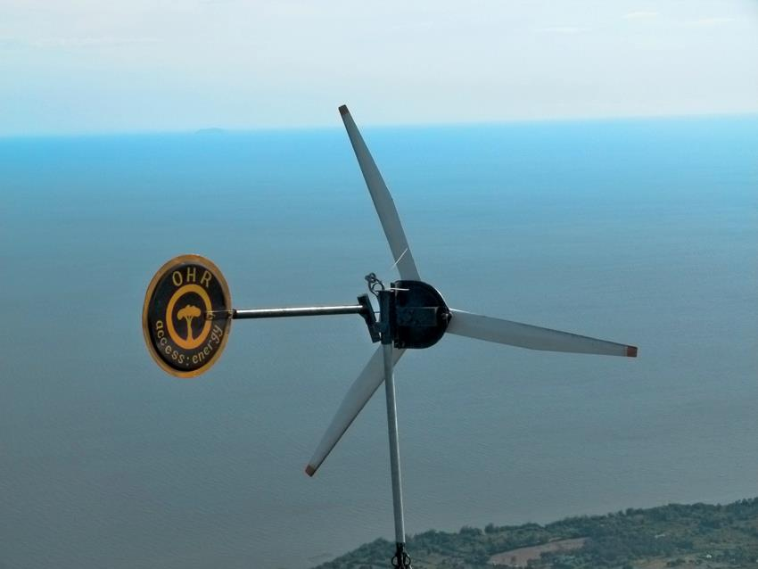 EK Wind-Turbine on Soklo Mountain, designed by Access:Energy of Kisumu