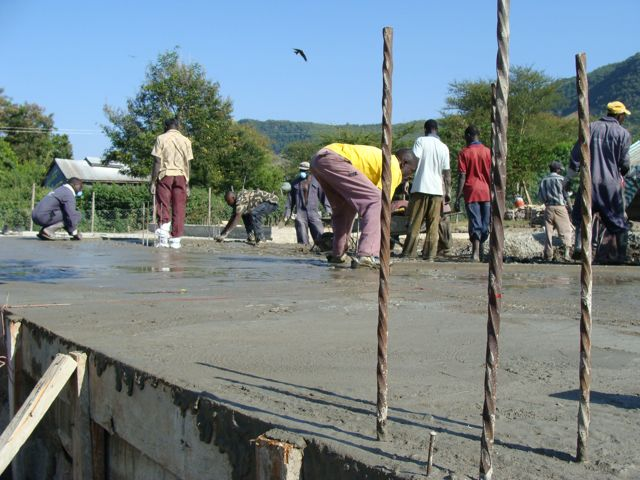 Pouring the Slab, July 2009