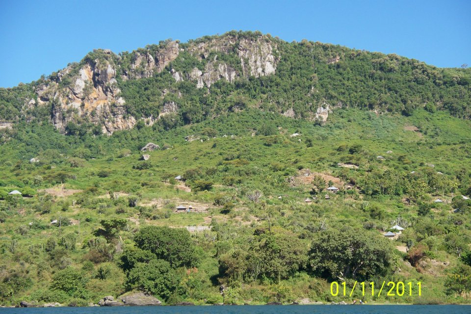 A view of Mfangano from the lake.