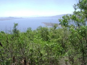 The view from Mzee Okello's land atop Mfangano Island, where OHR's new Internet tower will direct a wireless Internet link from Kisumu, 70km to the northwest, to the Ekialo Kiona Center along the shores of Lake Victoria on the southern side of the Island.