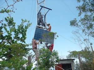 OHR staff and Access:Energy engineers install Wind/Solar Hybrid System on Soklo Mountain